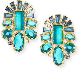 Kendra Scott Huckaby Crystal Statement Earrings in Gold-Tone Plate