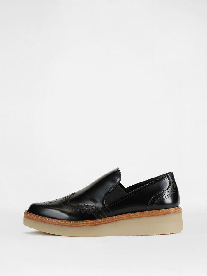 DKNY Kara Brogue Slip On Flat