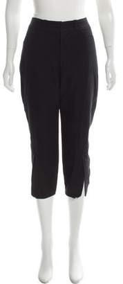 Balenciaga Crop High-Rise Straight-Leg Pants