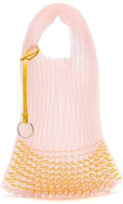 Jil Sander Market Small Embellished Net Tote Bag - Womens - Light Pink