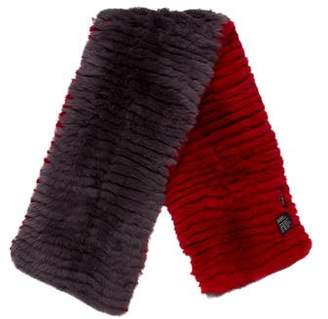 Etro Striped Fur Stole