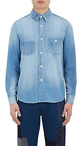 Fdmtl Men's Denim Button-Front Shirt-Blue Size Xs