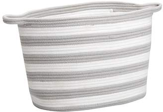Pottery Barn Kids Grey Cotton Rope Basket, Large