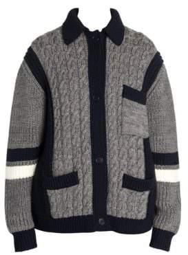 Miu Miu Women's Oversize Cable Knit Cardigan - Ardesia - Size 38 (4)