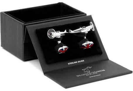Deakin & Francis Spitfire Enamelled Sterling Silver Cufflinks