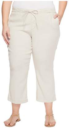 NYDJ Plus Size Plue Size Drawstring Ankle Pants in Stone Women's Jeans