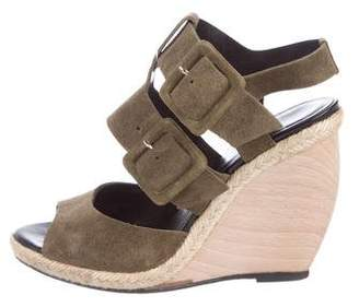 Pierre Hardy Suede Multi-Strap Wedge Sandals