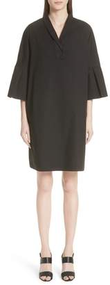 Fabiana Filippi Bell Sleeve Stretch Poplin Dress