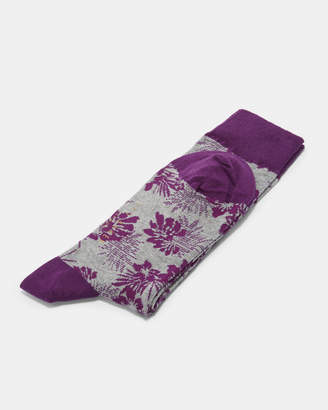 Ted Baker TINCANN Leaf print cotton socks