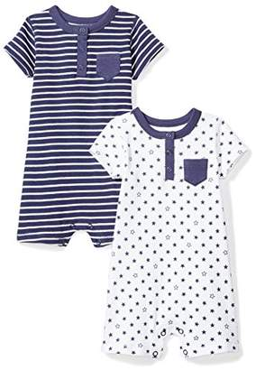 Moon and Back Baby Set of 2 Organic Rompers