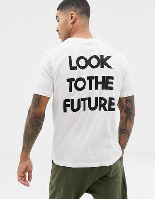 Pull&Bear T-Shirt With Slogan Back Print In White