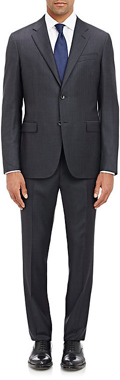 Barneys New York Barneys New York BARNEYS NEW YORK MEN'S FINE-STRIPED TWO-BUTTON SUIT