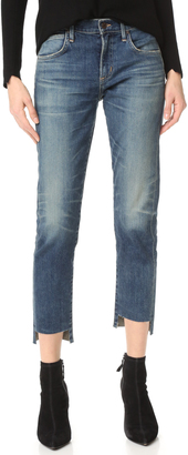 Citizens of Humanity The Principle Girlfriend Jeans with Raw Hem $258 thestylecure.com