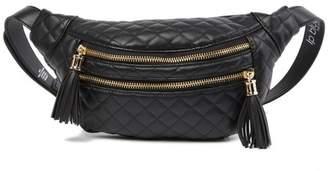 Linea Pelle Double Zip Quilted Belt Bag