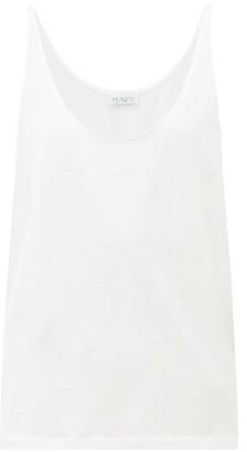 Raey Skinny Strap Cotton Jersey Vest - Womens - White
