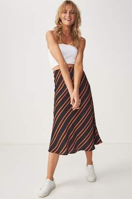Cotton On Woven Belle Bias Midi Skirt