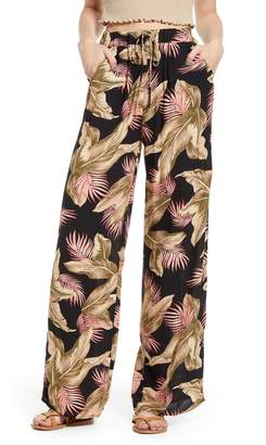Billabong Heart Beats Palm Leaf Print Pants