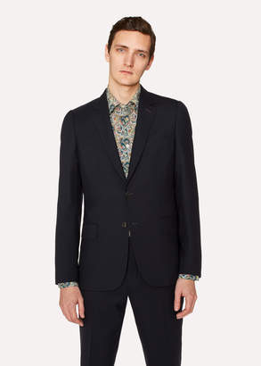 Paul Smith Men's Tailored-Fit Navy Wool 'A Suit To Travel In' Blazer