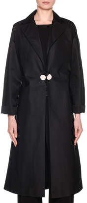 Giorgio Armani Duchess Satin Belted Trench Coat