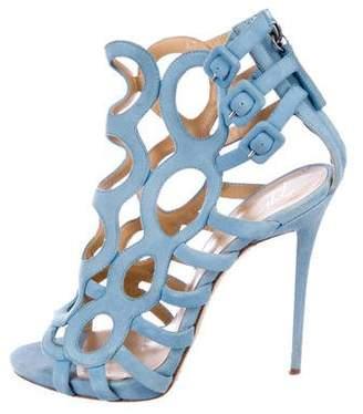 Giuseppe Zanotti Suede Caged Sandals