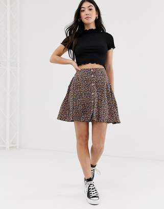 New Look Petite ditsy skirt in floral