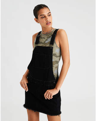 American Eagle AE Black Overall Skirt