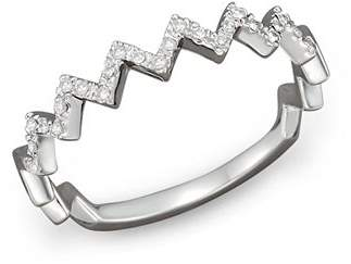 Bloomingdale's Diamond Zigzag Ring in 14K White Gold, 0.10 ct. t.w.
