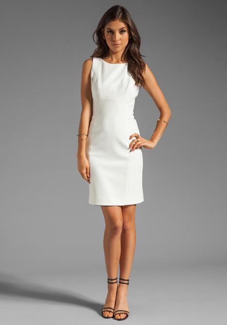 Shoshanna Double Crepe 2 Diana Dress