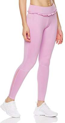Mint Lilac Women's Training Yoga Pants Athletic Workout Leggings with Lace Trim