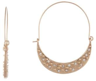 Melrose and Market 40mm Pave Crescent Hoop Earrings