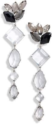 Kate Spade Crystal Statement Linear Drop Earrings