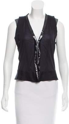 Balenciaga Sleeveless Silk Top