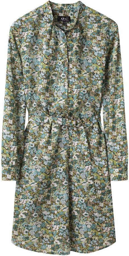 A.P.C. / Belted Floral Shirtdress