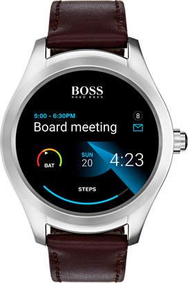 HUGO BOSS Touch Smart Watch Brown