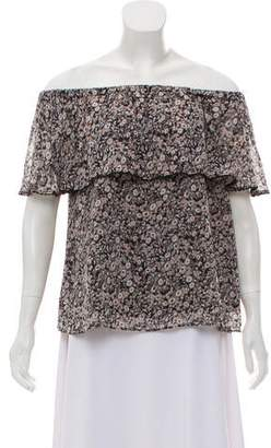 Rebecca Minkoff Off-The-Shoulder Floral Print Top
