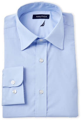 Nautica Light Blue Poplin Dress Shirt