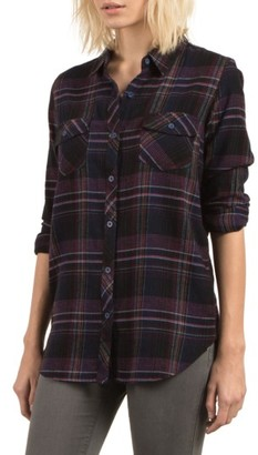 Women's Volcom Desert Fly Plaid Top $52 thestylecure.com