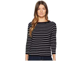 Vince Striped Back Tie Crew Women's Sweater