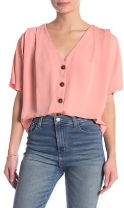 Elodie K V-Neck Button Blouse