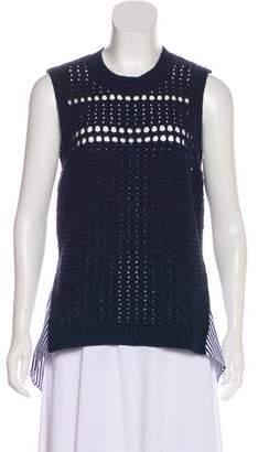 Veronica Beard High-Low Knit Top