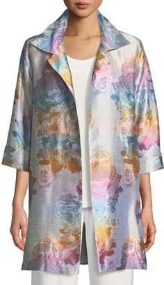 Caroline Rose Ombre Rose Jacquard Party Jacket, Plus Size