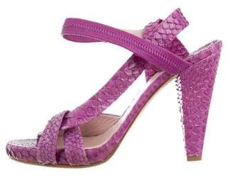 Chloé Snakeskin Slingback Sandals
