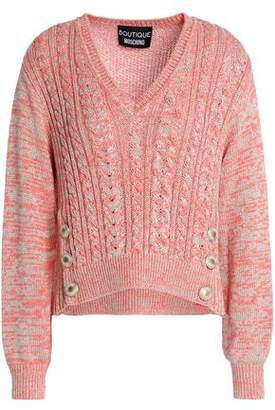 Moschino Metallic Cable-Knit Sweater