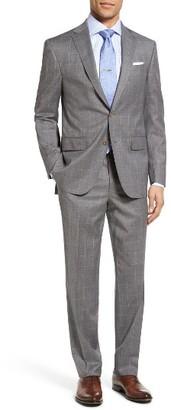 Men's David Donahue Ryan Classic Fit Windowpane Wool Suit $795 thestylecure.com