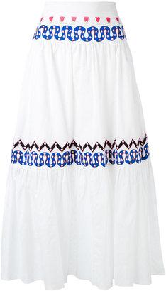 Temperley London embroidered full skirt