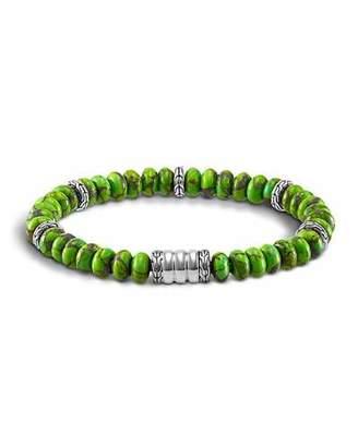 John Hardy Mohave Bedeg Men's Beaded Bracelet, Green