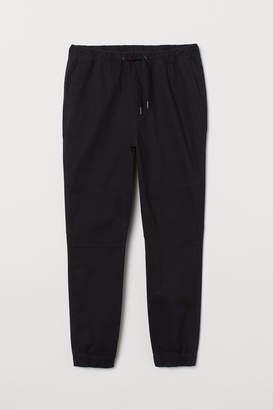H&M Regular Fit Twill Joggers - Black