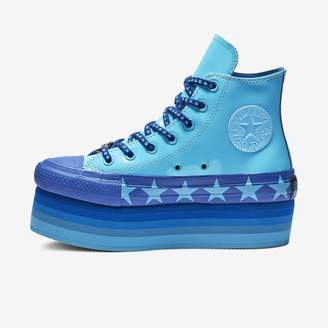 Converse x Miley Cyrus Chuck Taylor All Star Platform Faux Patent High Top Women's Shoe