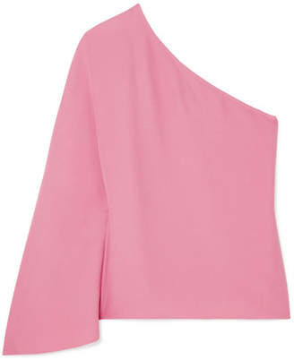 Theory Ruza One-shoulder Crepe Top - Pink