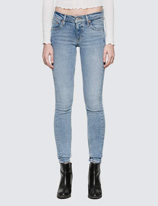 """Levi's Blue Steam"""" 711 Asia Skinny Altered Jeans"""
